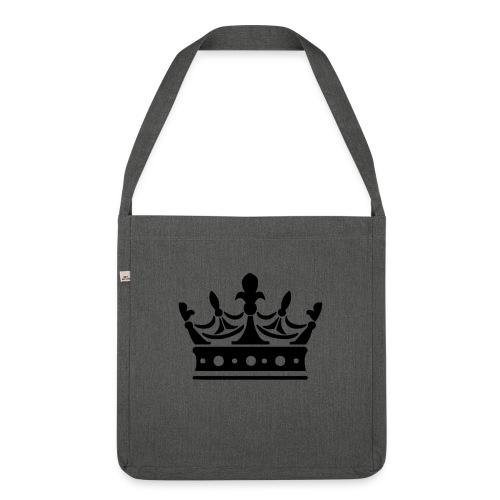 Krone Symbol König Kaiser Königin Mittelalter - Schultertasche aus Recycling-Material