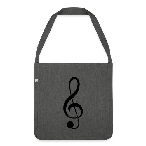 Musik Symbol Musikschlüssel Notenschlüssel - Schultertasche aus Recycling-Material