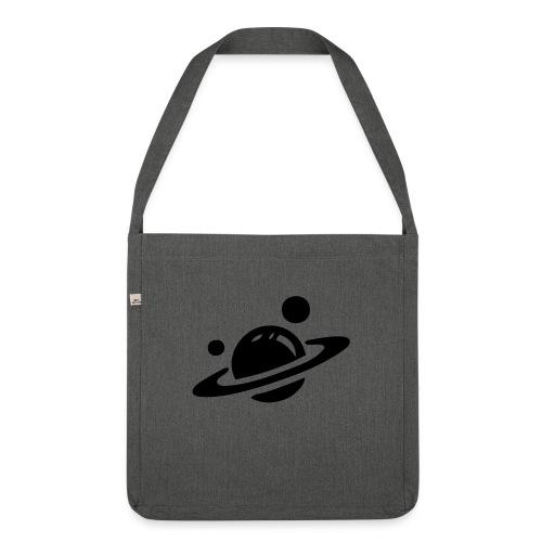 Weltall Symbol Planet Saturn Planeten Universum - Schultertasche aus Recycling-Material