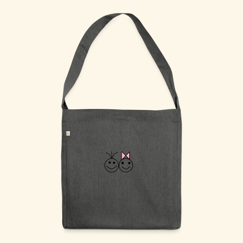 A Love A - Schultertasche aus Recycling-Material