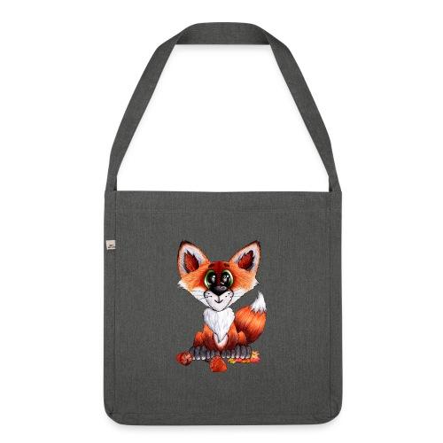 llwynogyn - a little red fox - Olkalaukku kierrätysmateriaalista