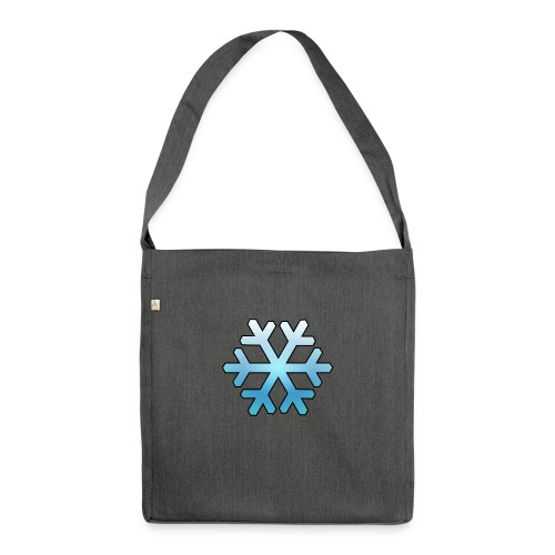 Schneeflocke - Schultertasche aus Recycling-Material