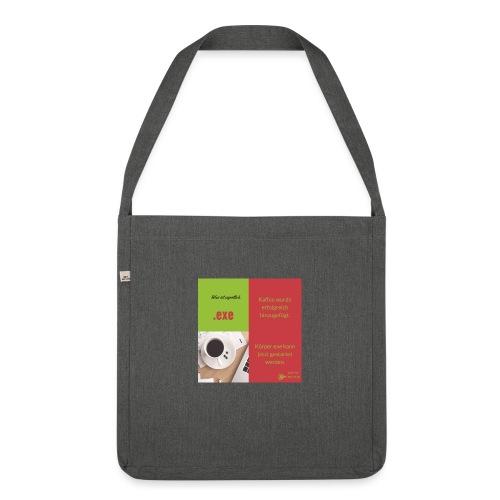 Was ist eigentlich... .exe, Kaffee - Schultertasche aus Recycling-Material