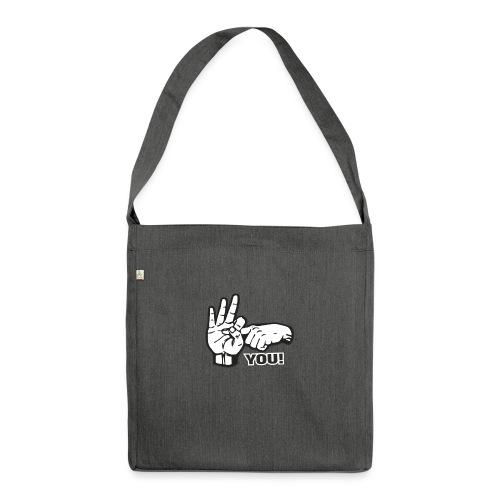 Fuck You - Schultertasche aus Recycling-Material