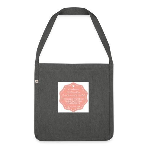 Amour - Sac bandoulière 100 % recyclé