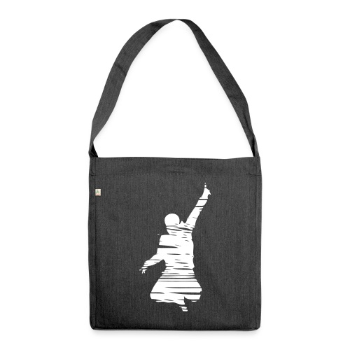 Jumping Man Schraffur - Schultertasche aus Recycling-Material