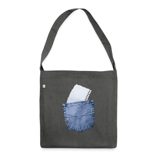 Jeans Baggy by #OneCreativeArts - Schultertasche aus Recycling-Material