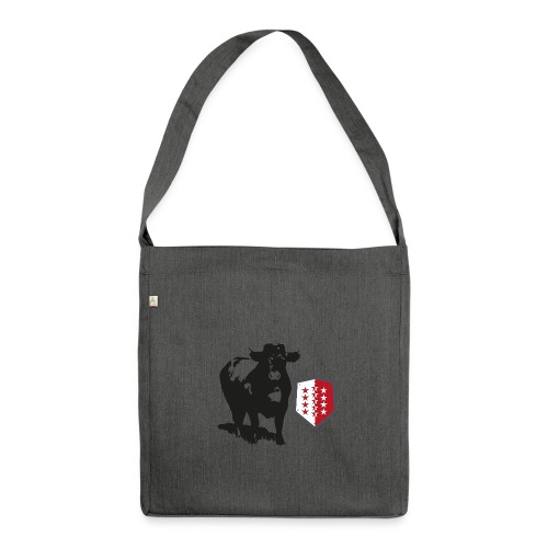 Vache - Cow - Schultertasche aus Recycling-Material