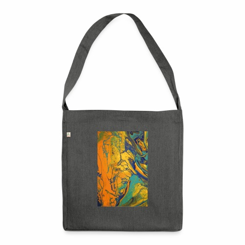 Yellow Cell - Schultertasche aus Recycling-Material