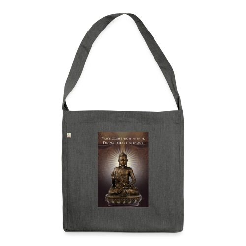 Peace from Within - Shoulder Bag made from recycled material