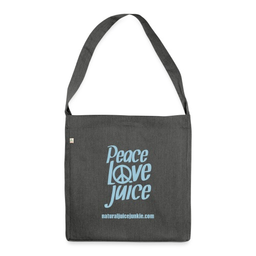 Peace Love Juice - Shoulder Bag made from recycled material