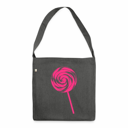 Retro Lolly - Schultertasche aus Recycling-Material