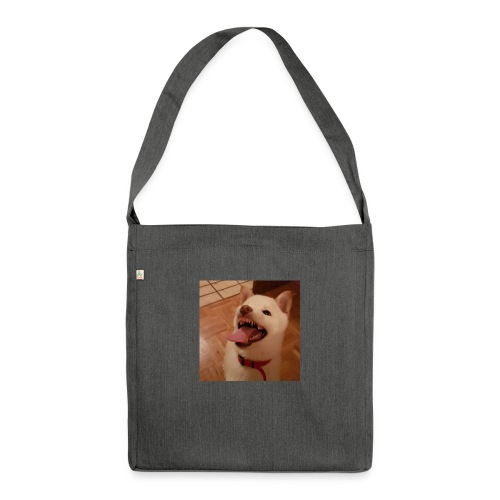 Mein Hund xD - Schultertasche aus Recycling-Material