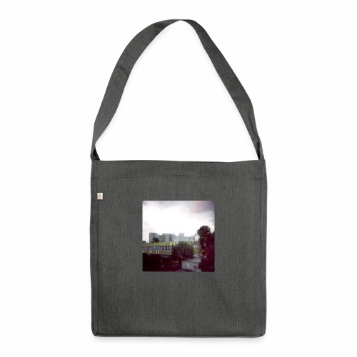 Original Artist design * Blocks - Shoulder Bag made from recycled material