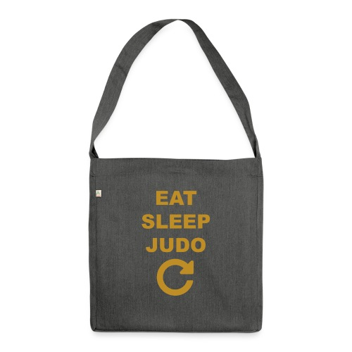 Eat sleep Judo repeat - Torba na ramię z materiału recyklingowego