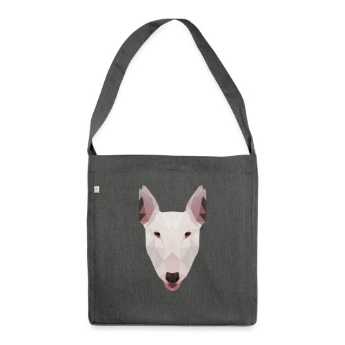 English Bull Terrier Artwork - Shoulder Bag made from recycled material
