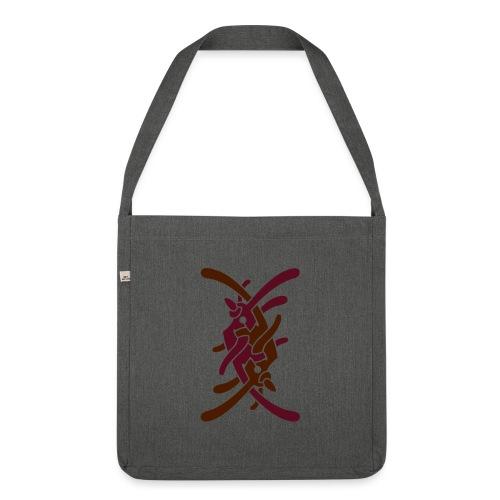 Stort logo på bryst - Skuldertaske af recycling-material