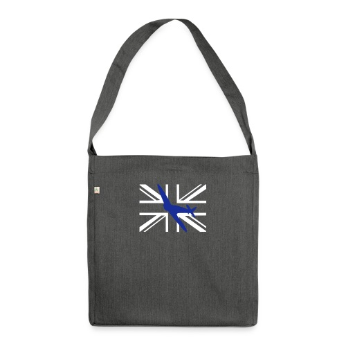 ukflagsmlWhite - Shoulder Bag made from recycled material