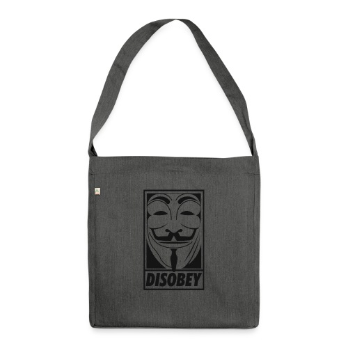 Anonymous disobey - Sac bandoulière 100 % recyclé