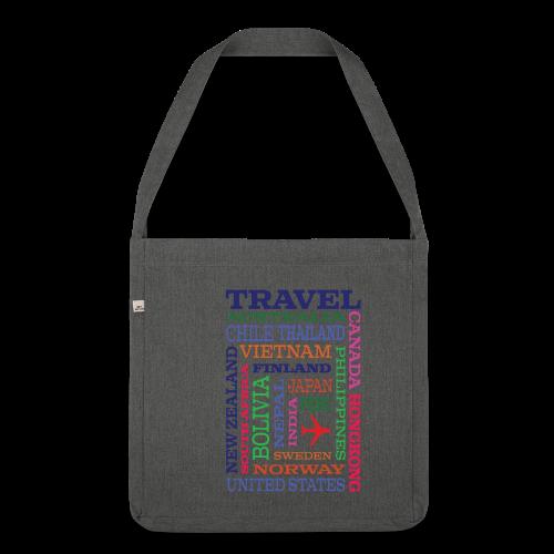 Travel Places design - Olkalaukku kierrätysmateriaalista