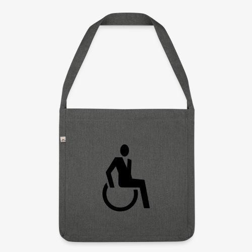 Sjieke rolstoel gebruiker symbool - Schoudertas van gerecycled materiaal