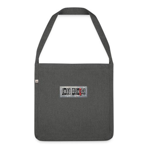 logo freddenise rectangle - Sac bandoulière 100 % recyclé