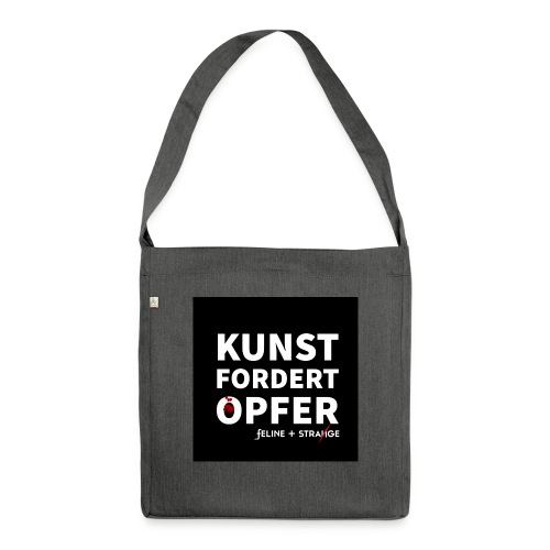 F&S: Kunst fordert Opfer (black square) - Schultertasche aus Recycling-Material