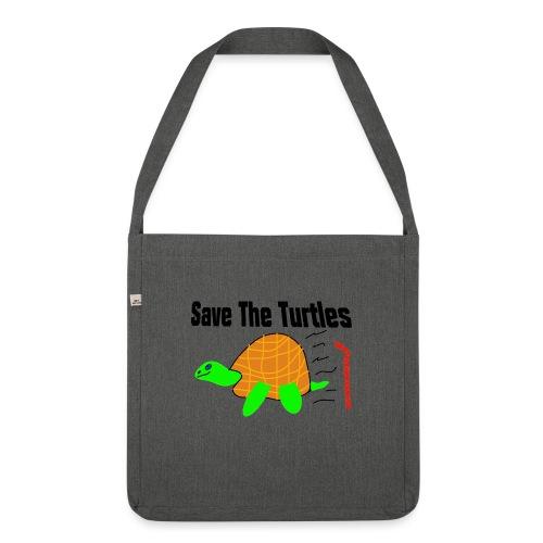 save the turtles - Skulderveske av resirkulert materiale