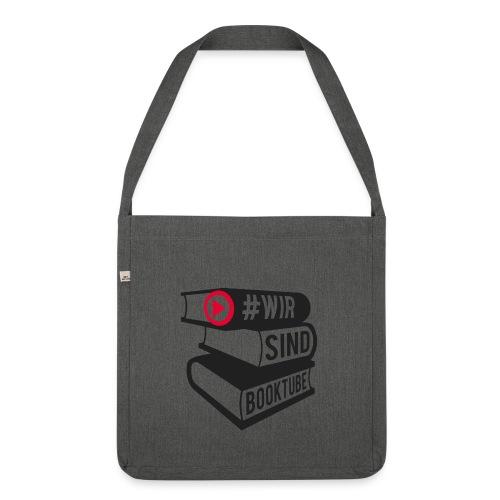#wirsindbooktube Logo - Schultertasche aus Recycling-Material
