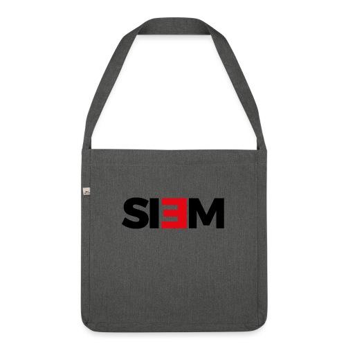 siem_zwart - Schoudertas van gerecycled materiaal
