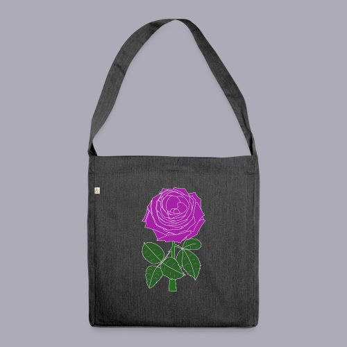 Landryn Design - Pink rose - Shoulder Bag made from recycled material