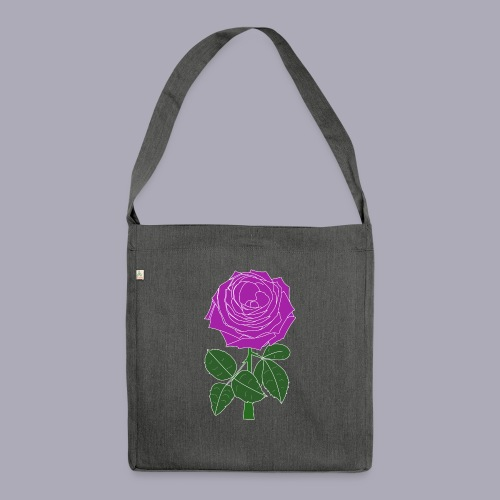 Landryn Design - Pink rose - Shoulder Bag made from recycled material