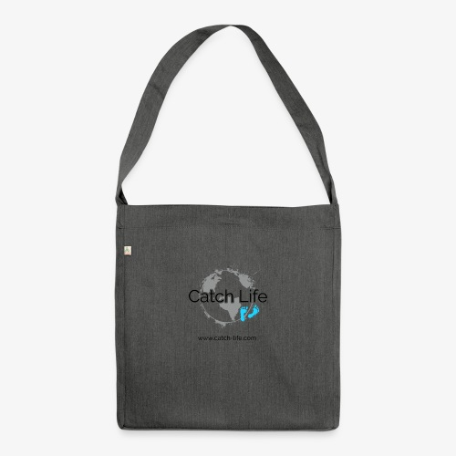 Catch Life Logo - Shoulder Bag made from recycled material