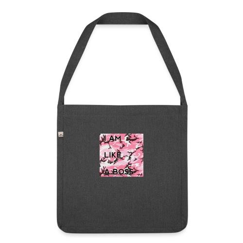 i am loke a boss premium pink camo - Schultertasche aus Recycling-Material