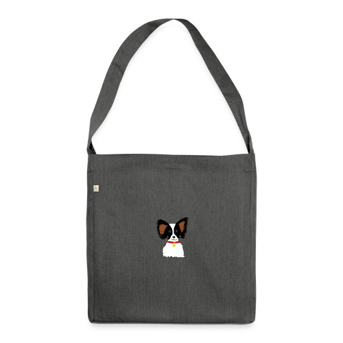 Papillon dog - Shoulder Bag made from recycled material