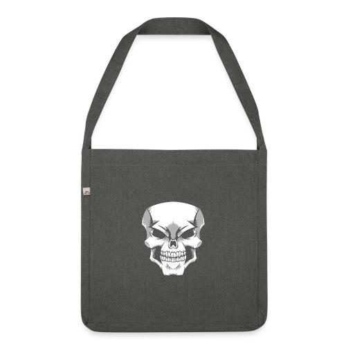 Skull - Bandolera de material reciclado
