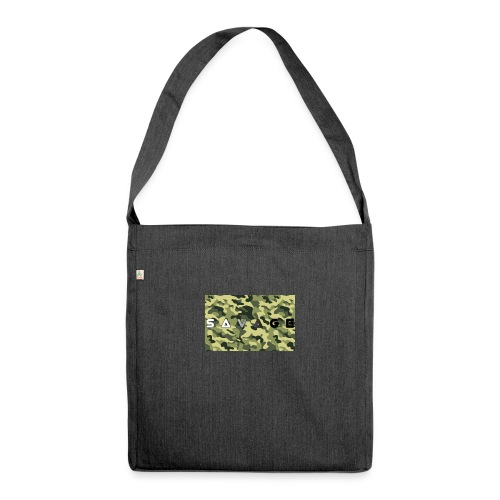 savage camo premium - Schultertasche aus Recycling-Material