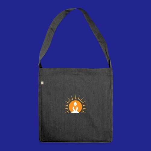 Guramylyfe logo white no text - Shoulder Bag made from recycled material