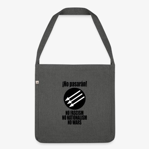 No pasaran! - No Fascism, No Nationalism, No Wars - Shoulder Bag made from recycled material