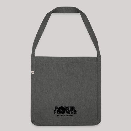 Logo PowerFlower Nero - Borsa in materiale riciclato