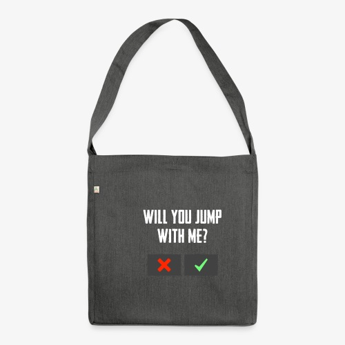 PUBG Will you jump with me? - Schultertasche aus Recycling-Material