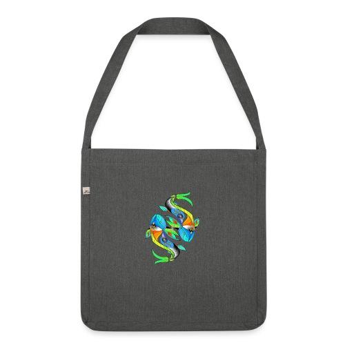 Regenbogenfische - Schultertasche aus Recycling-Material