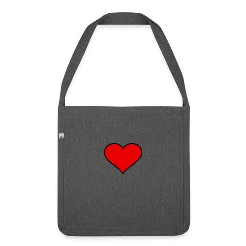 big heart clipart 3 - Axelväska av återvinningsmaterial