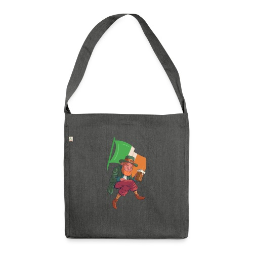 Irland / St. Patrick´s Day - Schultertasche aus Recycling-Material