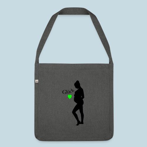 Schwanger Glück - Schultertasche aus Recycling-Material