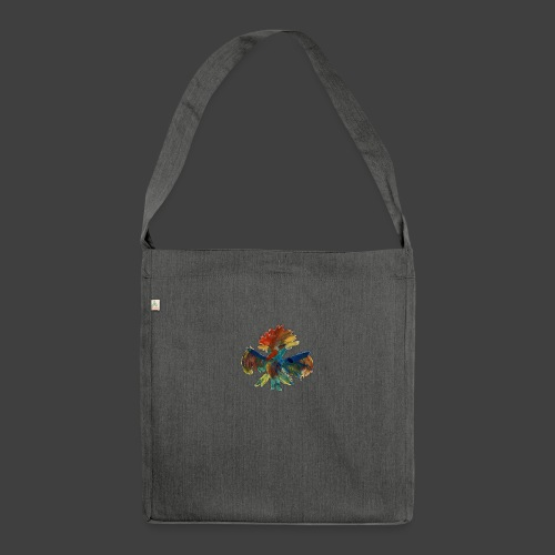 Mayas bird - Shoulder Bag made from recycled material