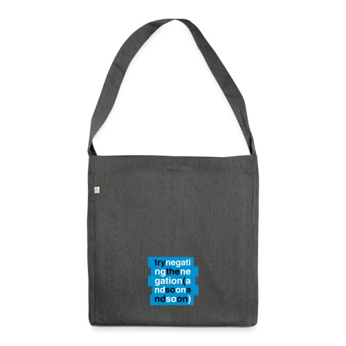 TRY NEGATING | Zizek - Schultertasche aus Recycling-Material