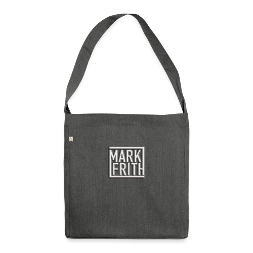 WHITE EMBOSSED LOGO - Shoulder Bag made from recycled material