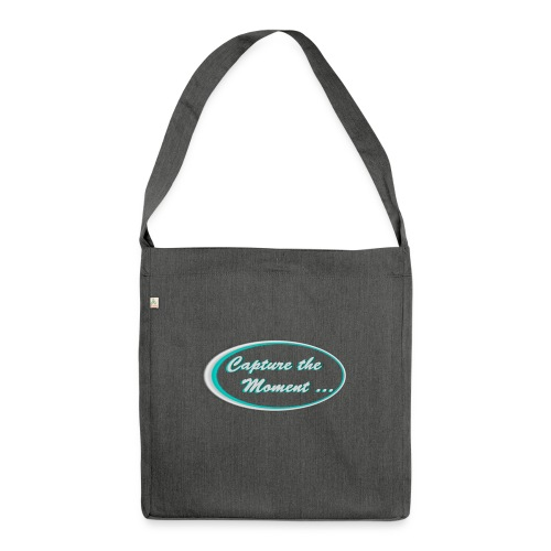 Logo capture the moment photography slogan - Shoulder Bag made from recycled material