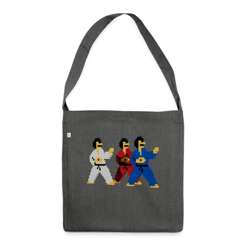 8 bit trip ninjas 1 - Shoulder Bag made from recycled material